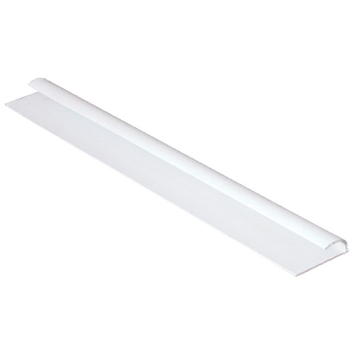 Bordure de finition en PCV, 1/2 po x 8 pi, blanc