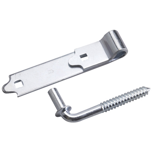 Screw Hook with Strap Hinge - 6""