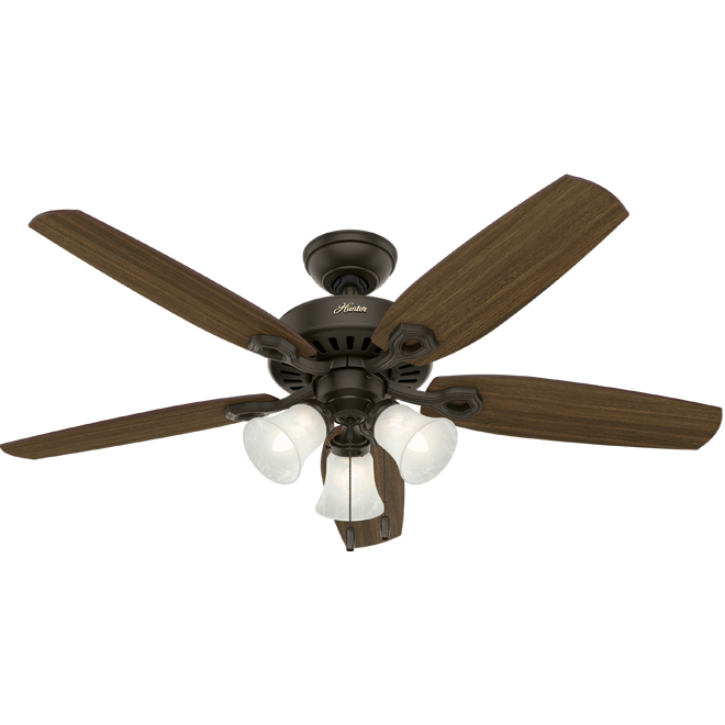 """Hinman"" 3-Light 5-Blade Ceiling Fan - 52"""