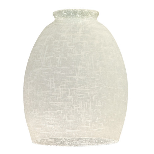 """Devonshire Linen"" Hand-Blown Glass Shade - White"