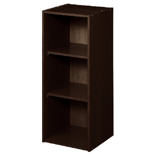 "3-Shelf Stackable Organizer 12"" x 31"" - Espresso"