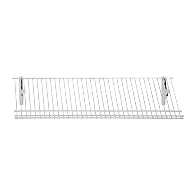 """ShelfTrack"" Wire Shoe Shelf 12"" x 36"" - White"
