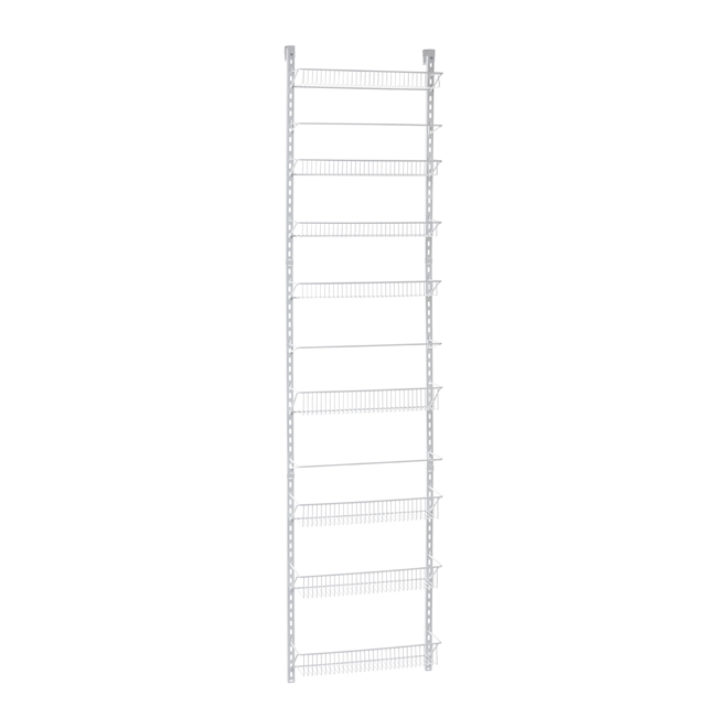 Metal Wall Rack - 8 Tiers - White