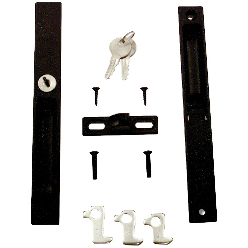 Reversible Keyed Flush Mount Sliding Door Lock
