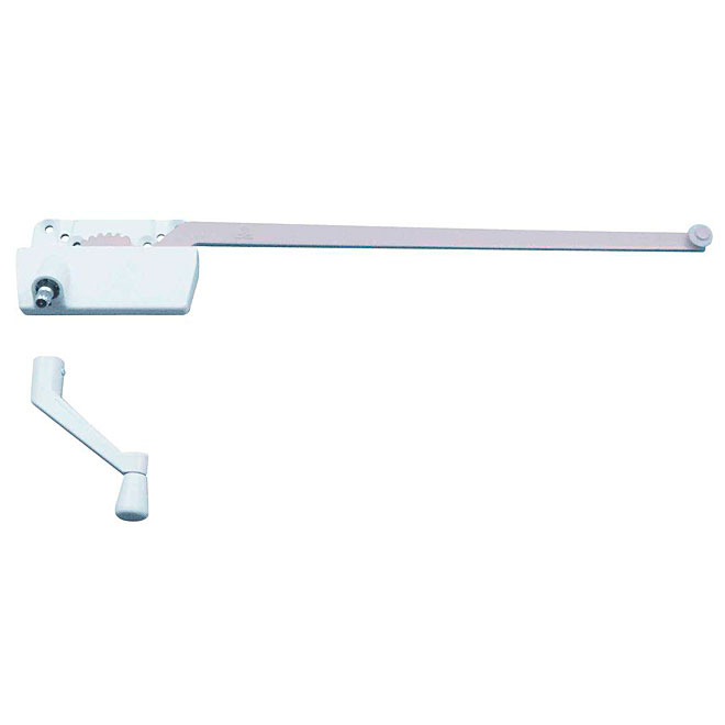 Manivelle bras simple pour fen tre battants blanc rona for Manivelle pour fenetre