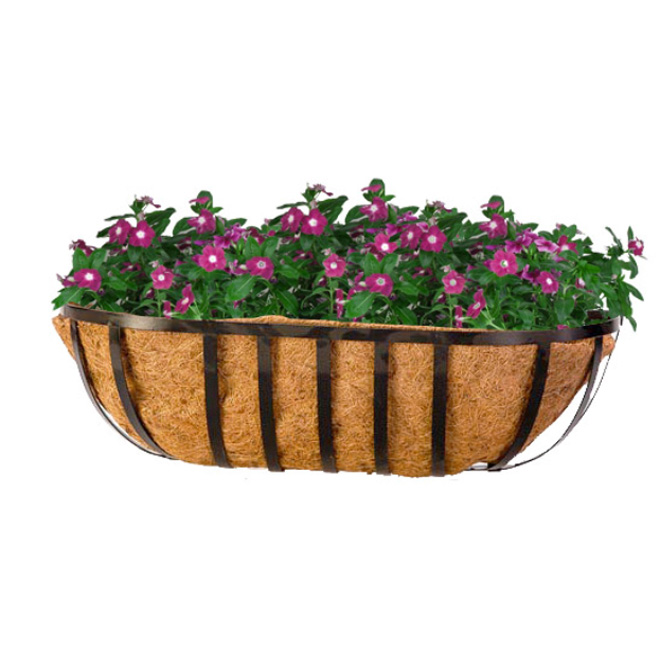 """with coco fiber"" Planter - Black"
