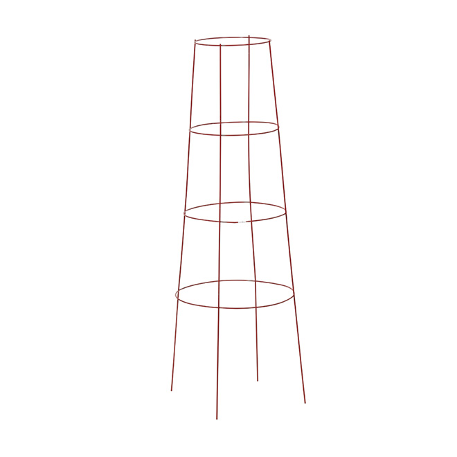 "Inverted Tomato Cage and Plant Support 48"" - Red"