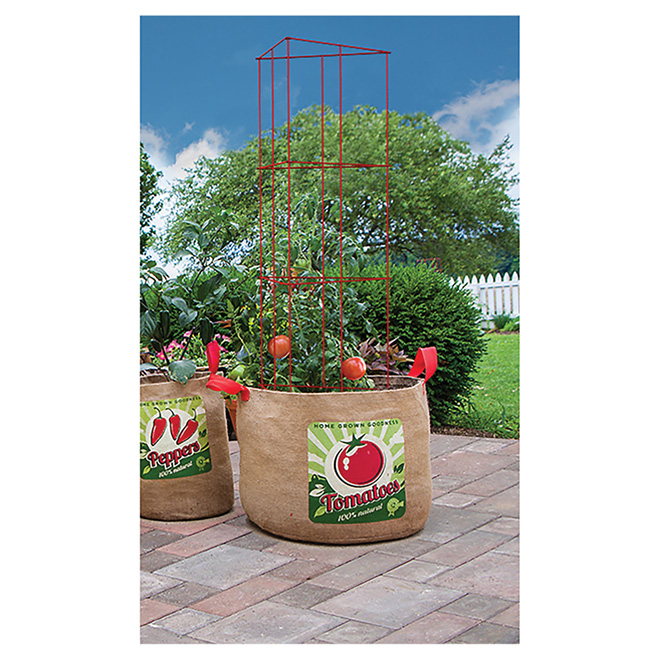 Tomato Grow Bag and Plant Support - 10 Gal.
