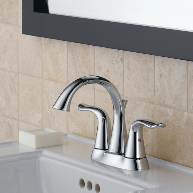 Lahara 2 handle bathroom faucet rona for Robinet salle de bain rona