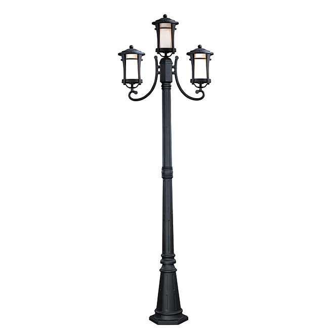 maya 3 head outdoor lamp post rona