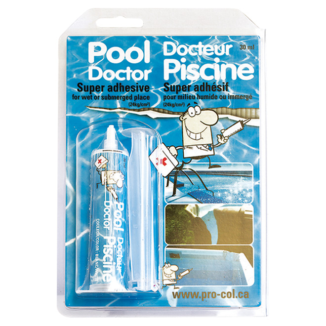 Adh sif pour r paration de piscine 30 ml rona for Docteur piscine