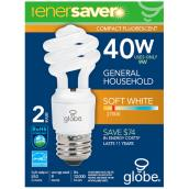 9-W Ultra Mini CFL Spiral Lightbulb