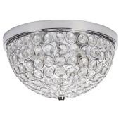 Flush-Mount Light with Crystal Shade Insert - 12.6