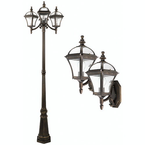 Colonial Exterior Lighting House Plans