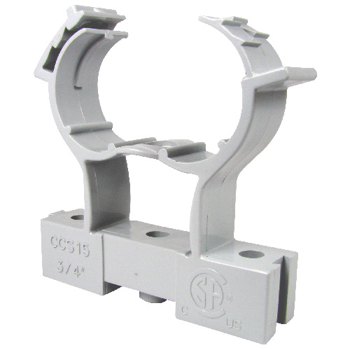 Conduit Clamp and Spacer - PVC - 3/4""