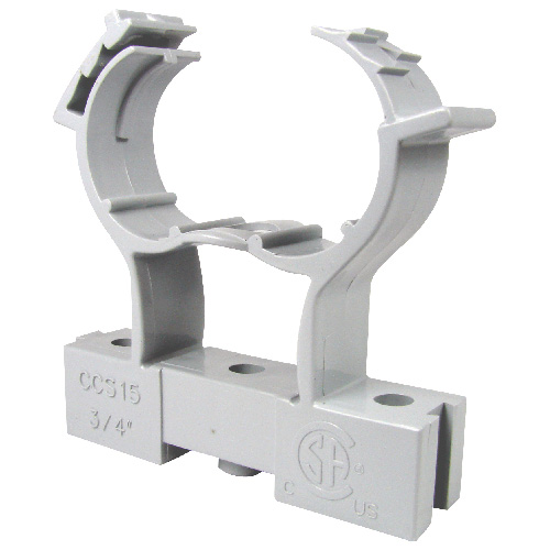 Conduit Clamp and Spacer - PVC - 1""