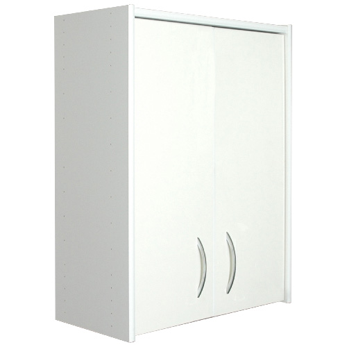 "2-Door 2-Shelf Cabinet 24"" x 31.6"" x 12"" - White"