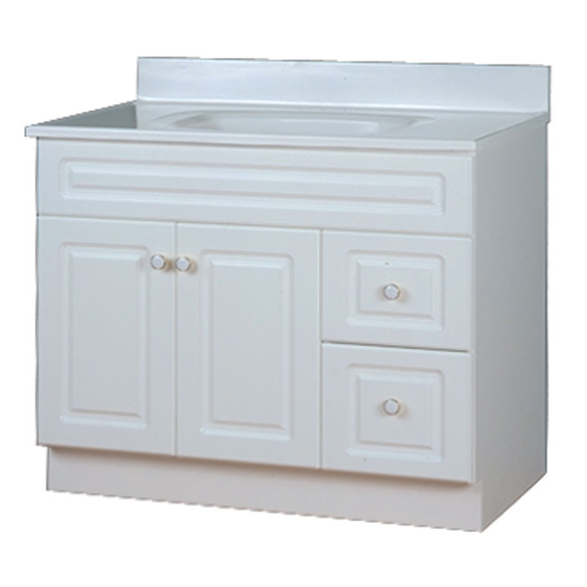 """San Juan"" 2-Door 2-Drawer Vanity Base - White"
