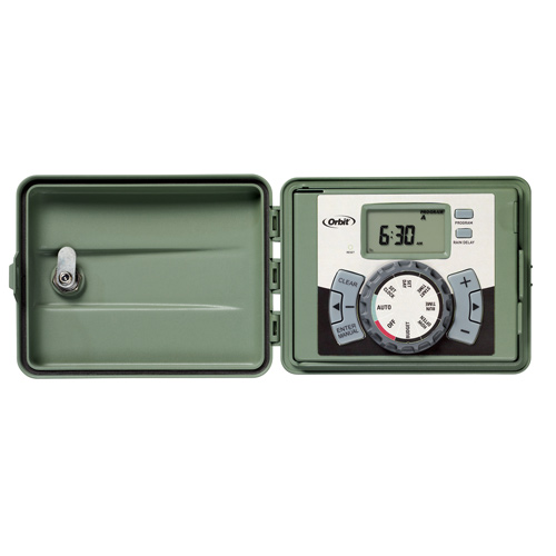 Timer - 4-Station Outdoor Swing-Panel Irrigation Timer