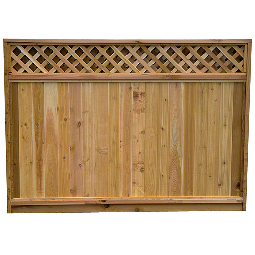 Lattice top cedar fence panel 6 39 x 8 39 rona for Lattice prevulcanizzato