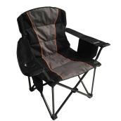 Camping Chair with Cooler Bag - Black/Grey