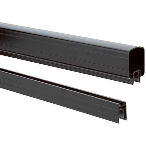 Exterior Top and Bottom Railings 10' - Black