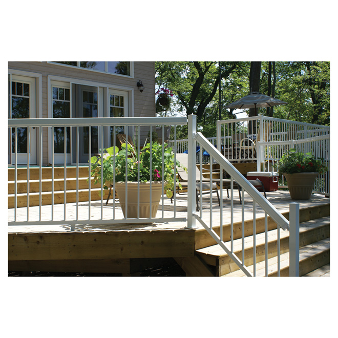 Aluminum Straight Fence Picket - 14-Pack - White