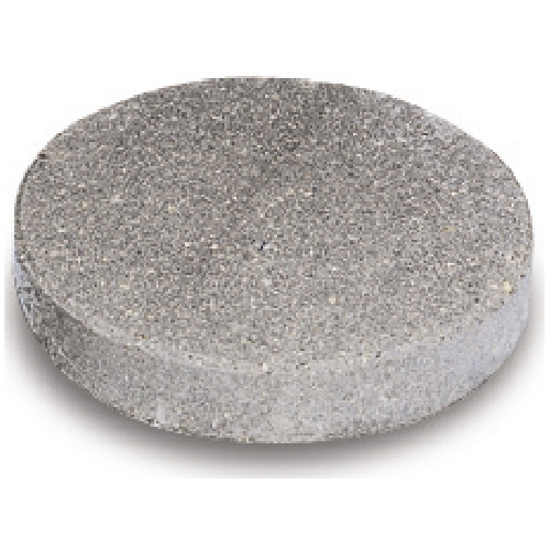 "Round Stepping Stone 12"" - Textured, Charcoal"