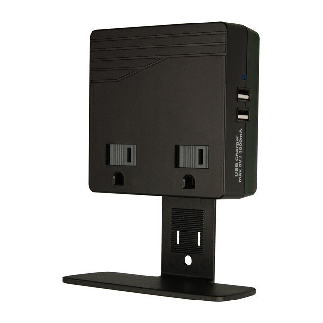 2 USB/2 Outlet Charge Block