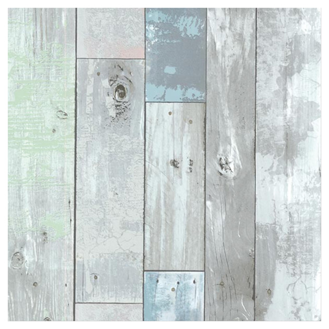 Mur Bois De Grange Blanc : Blue Distressed Wood Wall Paneling