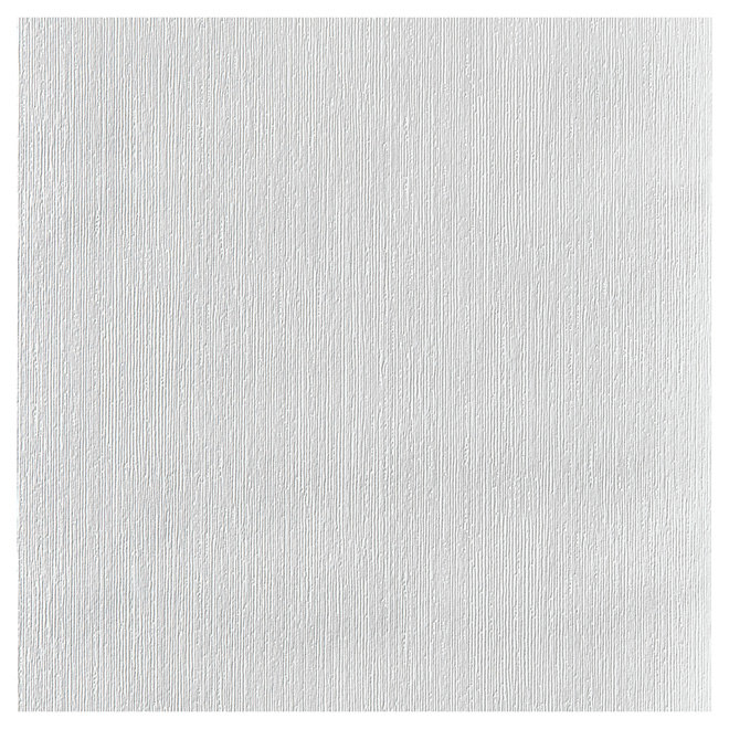 "Paintable Wallpaper - Ribbed- 20.5"" x 33' - White"