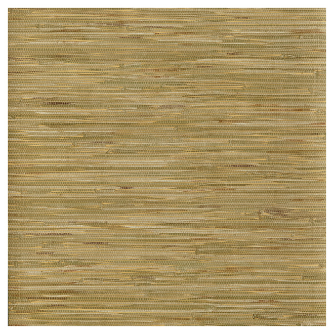 "Wallpaper- Grasscloth Style- 20.5"" x 33' - Green"
