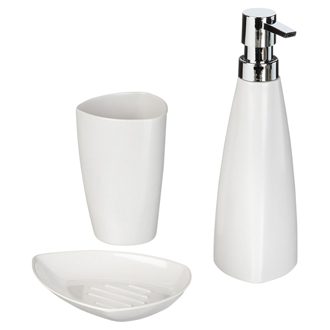 3-Piece Countertop Bathroom Accessory Set