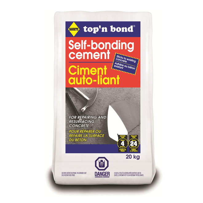 Self-bonding concrete patch