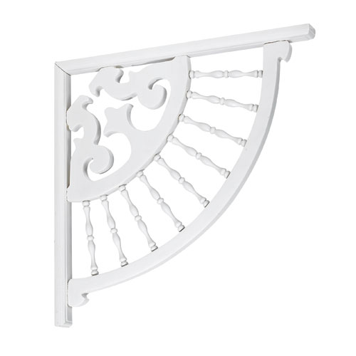 """Ram and Spindle"" Pine Support Bracket - White"