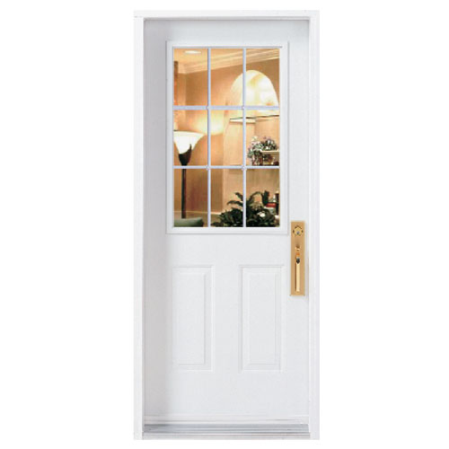 "9-Panel Window Exterior Steel Door 34 x 80""- Left"