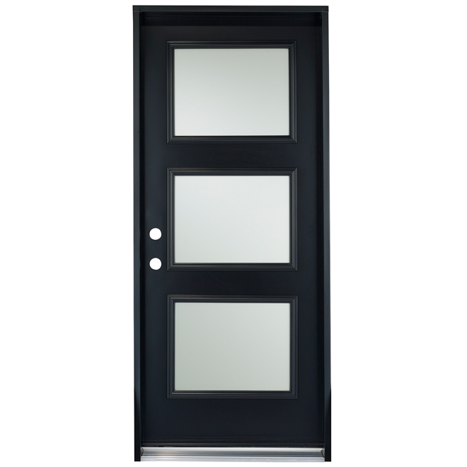 "3-Panel Steel Door - 34"" - Right - Black"