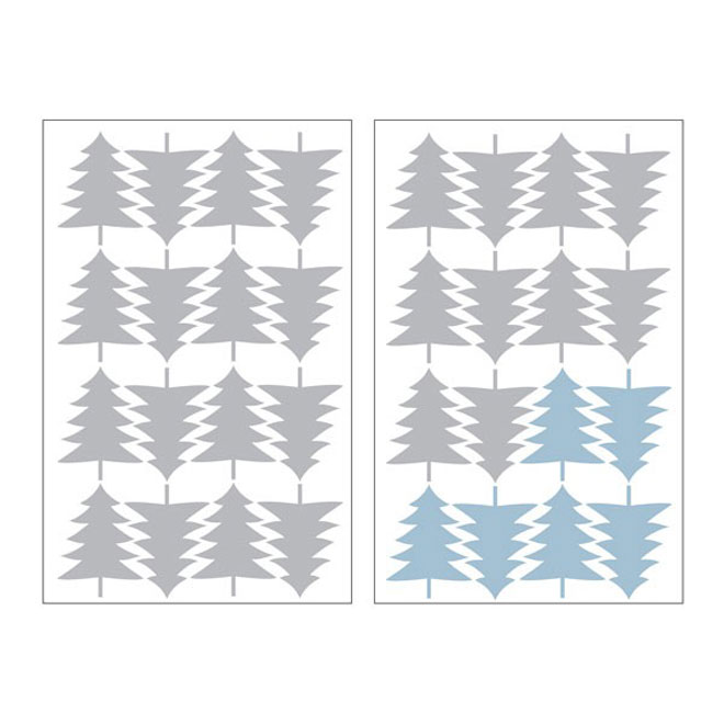 "Removable Vinyl Wall Decal - ""Firs"" - 2-Pack"
