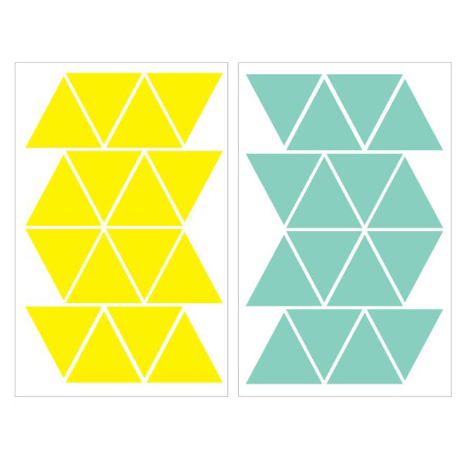"Removable Vinyl Wall Decal - ""Triangular"" - 2-Pack"