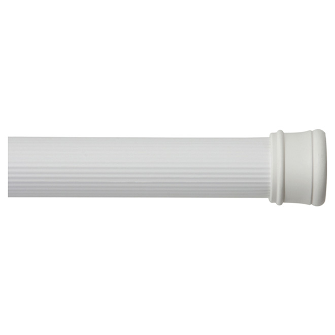 "Tension Curtain Rod - 42"" to 72"" - White"