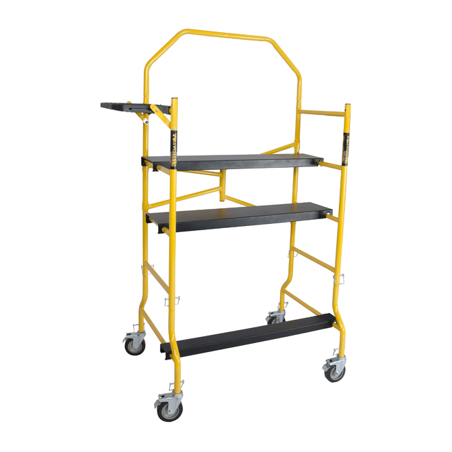 Mini Scaffold with Adjustable Anti-Slip Platforms
