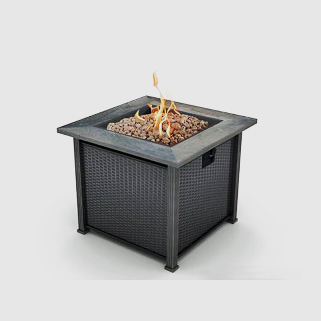 Enjoy the ambience of a backyard fire safely on your patio or deck with the Bond Terrace Park Outdoor Propane Fireplace. This outdoor fireplace provi...