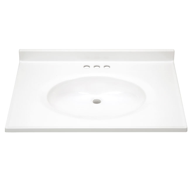Sink - Cultured Marble Vanity Countertop - White RONA