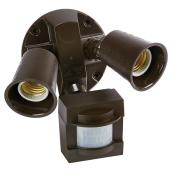 Motion-Activated Halogen Security Light - Bronze
