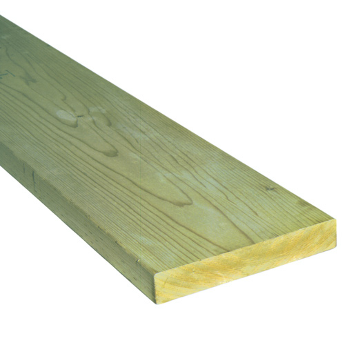Treated Wood Green - 2 in x 8 in x 16 ft