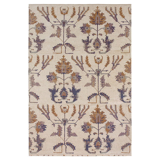 """Clifton"" Decorative Carpet - Cream - 6.5' x 8.6'"