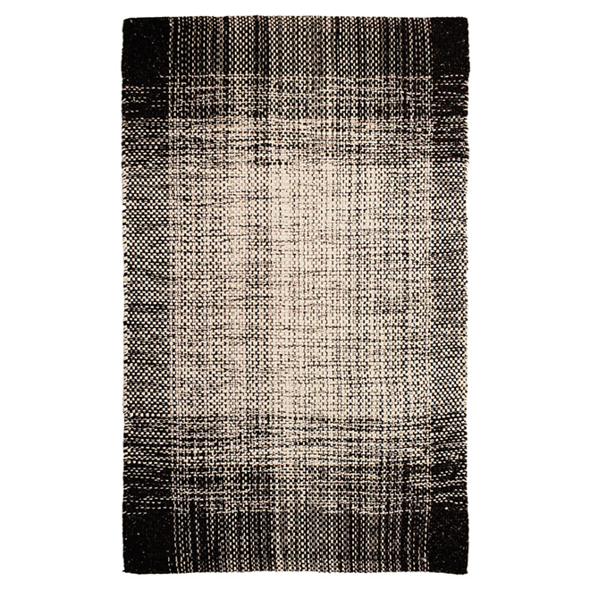 """Dawlish"" Decorative Carpet - Black - 25"" x 45"""