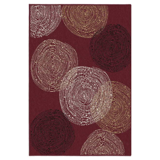 """Wickham"" Area Rug -  5' x 7' - Red"