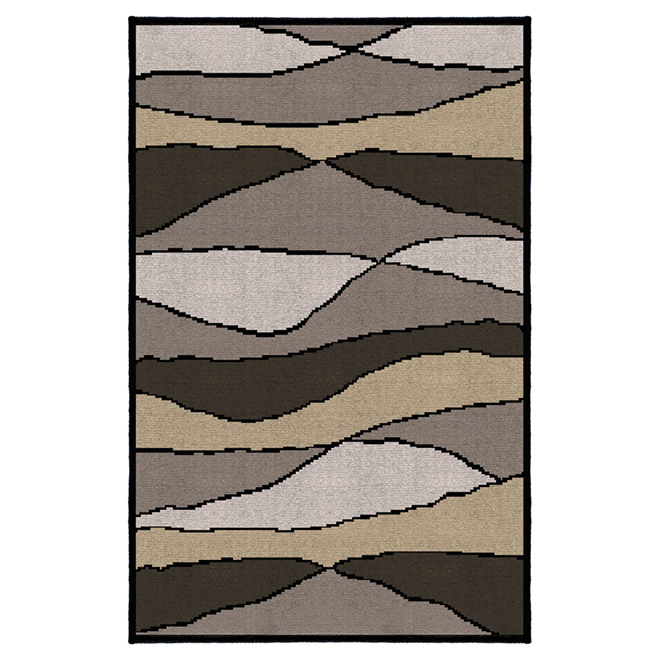"""Wave"" Area Rug - 5' x 7' - Neutral"