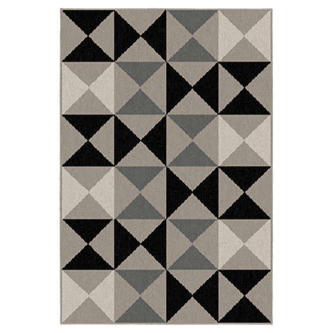 "Decorative Carpet - Mocha - 52"" x 75"""